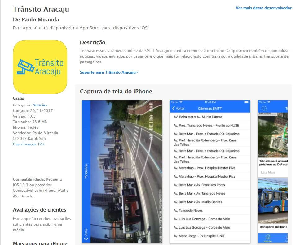 Trânsito Aracaju na App Store