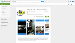 Aplicativo da Rádio 98 FM – Campo Formoso