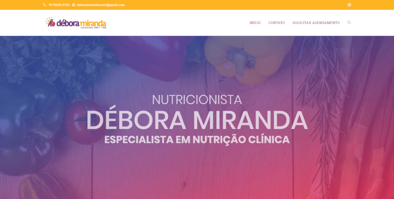 Site da Nutricionista Débora Miranda