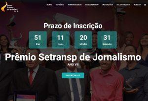 Sistema do Prêmio Setransp de Jornalismo