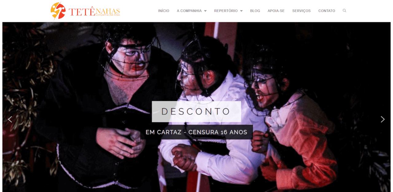 Site da Cia das Artes Tete Nahas