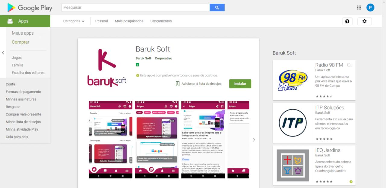 Novo aplicativo Baruk Soft