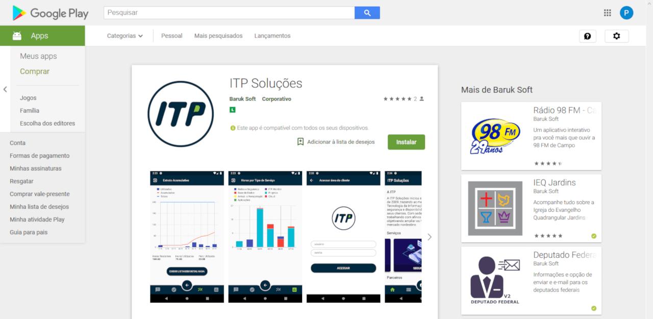 Aplicativo da ITP Soluções