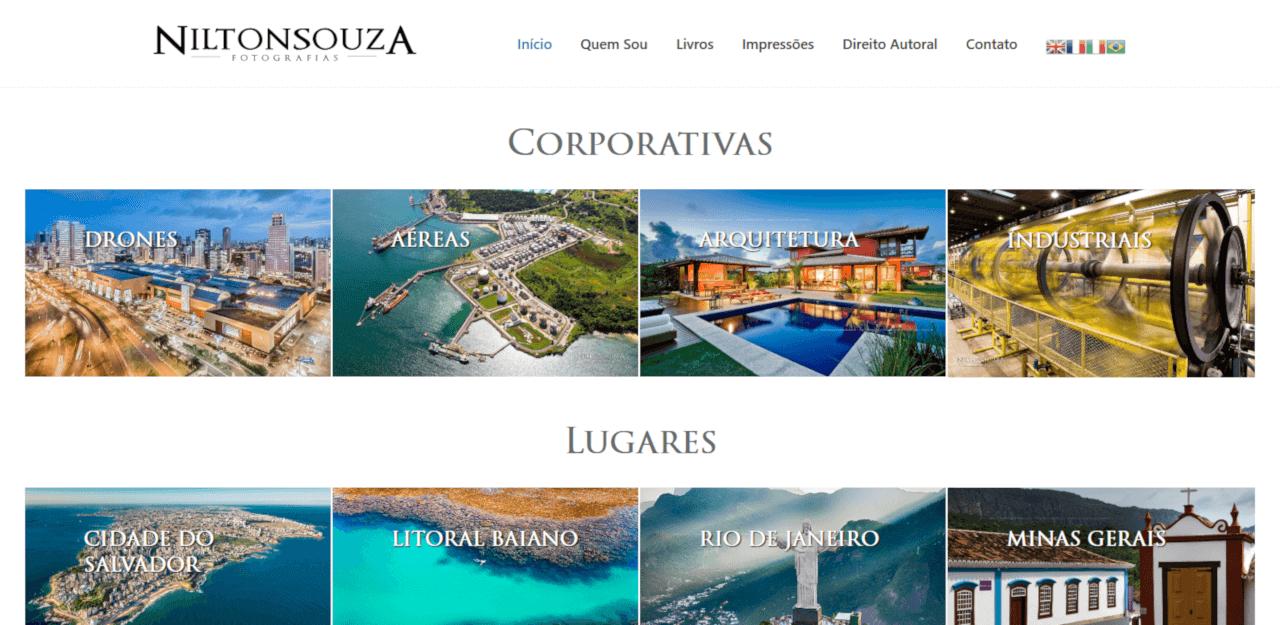 Site do fotógrafo Nilton Souza