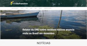 Lançamento do site InfoSãoFrancisco