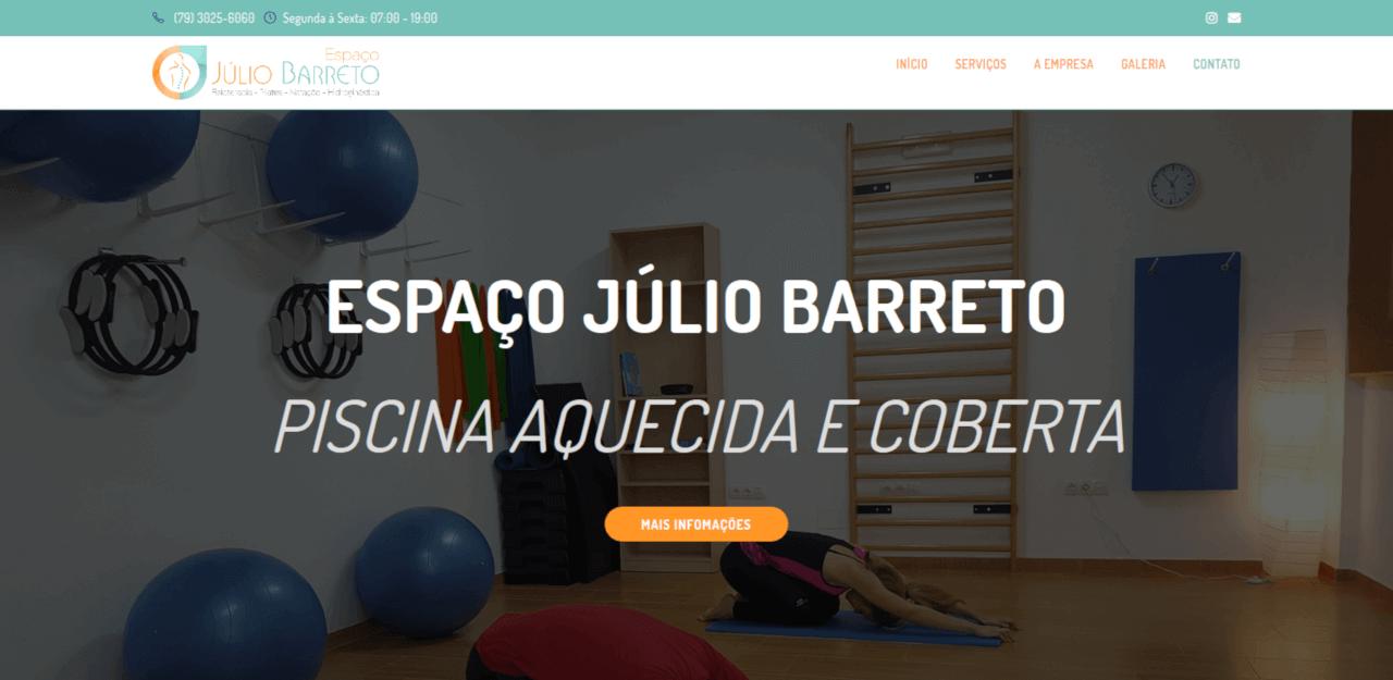Site do Espaço Júlio Barreto