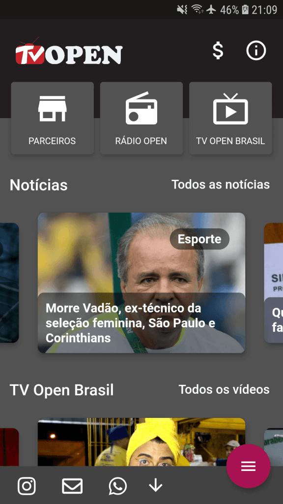 app tv open integracao wordpress