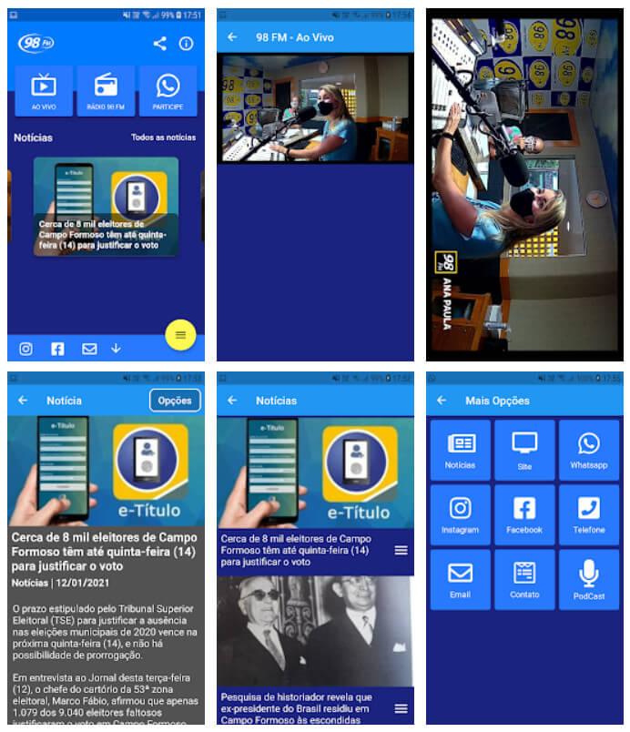 novas telas app radio campo formoso 89 fm aplicativo para radio flutter