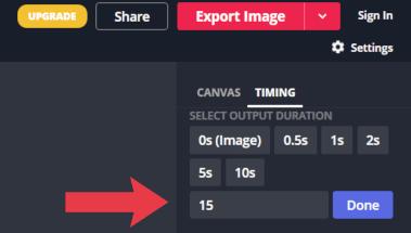 Definindo o tempo de duração do vídeo