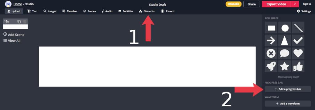 Incluindo uma barra de progresso no projeto