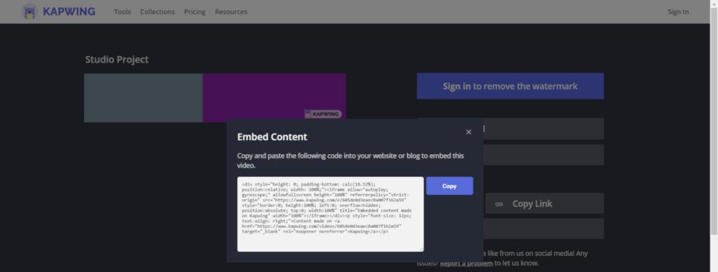 Usando a opção de Embed para pegar  código e colocar aqui nesse post