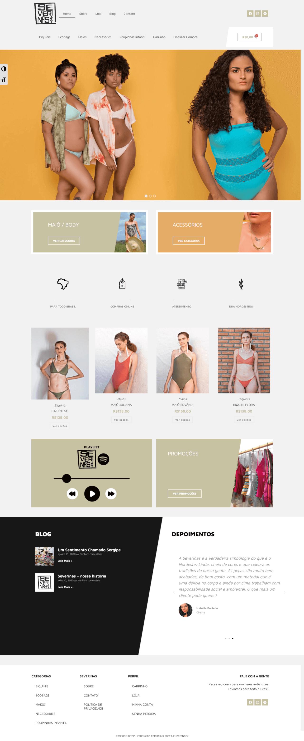 loja virtual moda praia feminina-masculina acessorios roupas aracaju/sergipe - página inicial - severinas