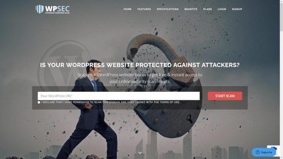 Ferramenta on line WPSEC - testar segurança de um site