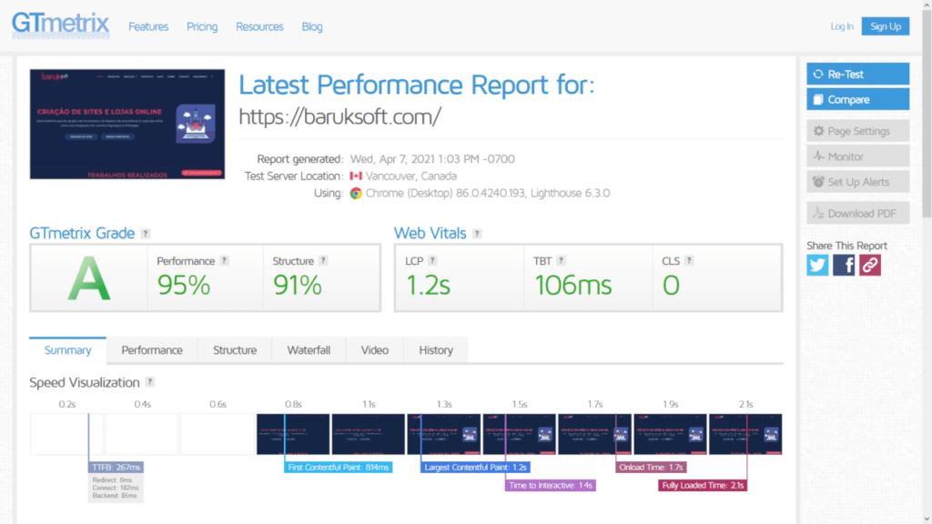 testar velocidade do site google medir desempenho baruk soft