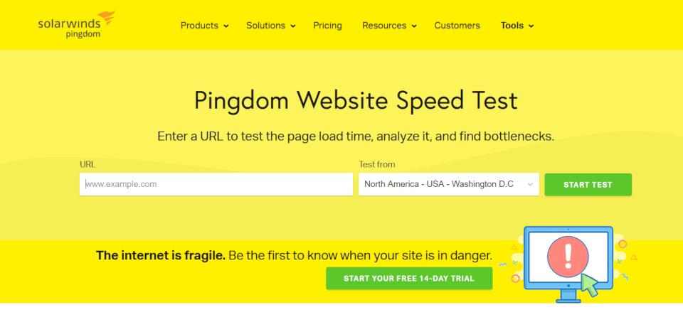 Pingdom - mais uma ferramenta para verificar a velocidade do site