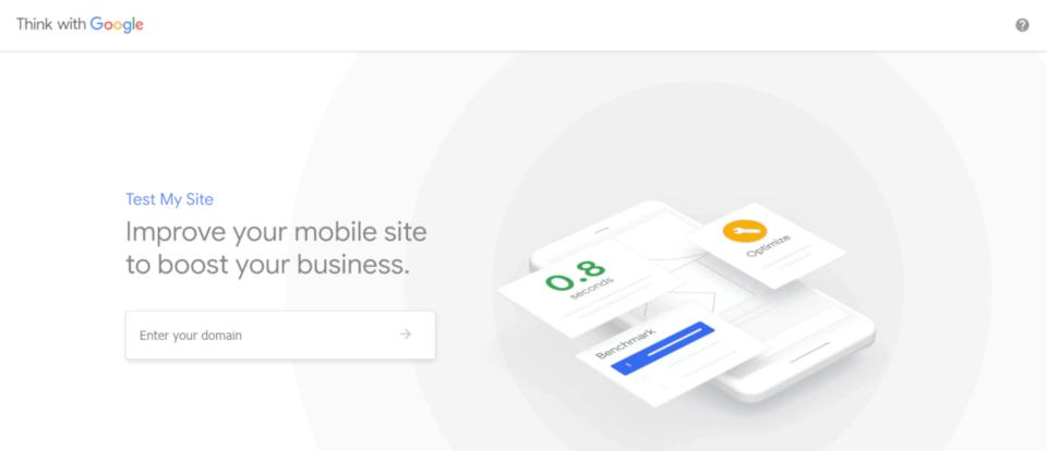test my site - mais um serviço do google para analisar a velocidade de um site, mas o foco desse é o mobile - dispositivo móvel