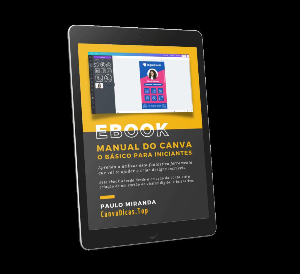 capa ebook manual canva em pdf - tutorial