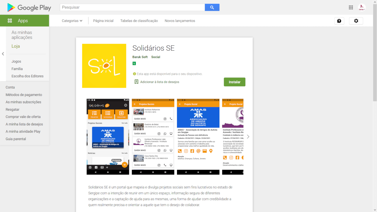 Lançamento do Aplicativo Solidários SE e melhorias no site
