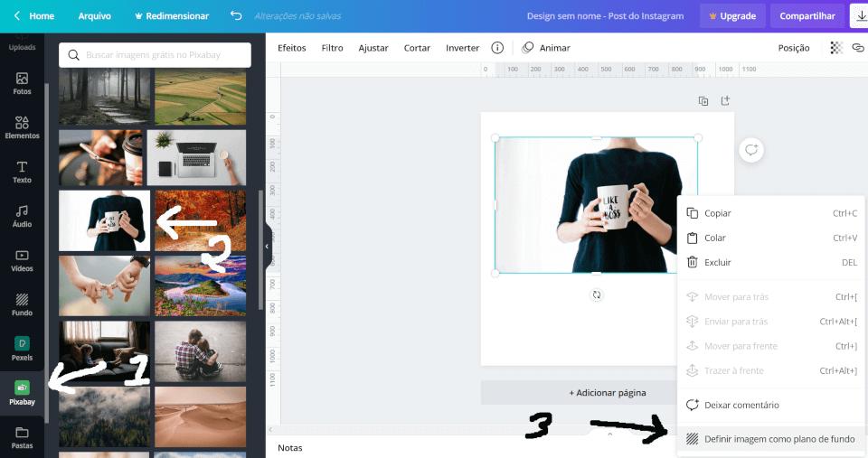 Criando a imagem no Canva