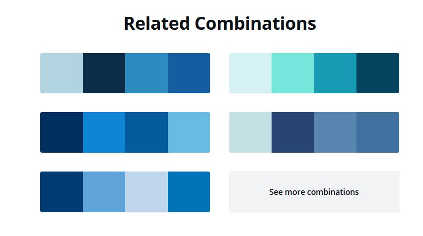 cores relacionadas com a cor escolhida