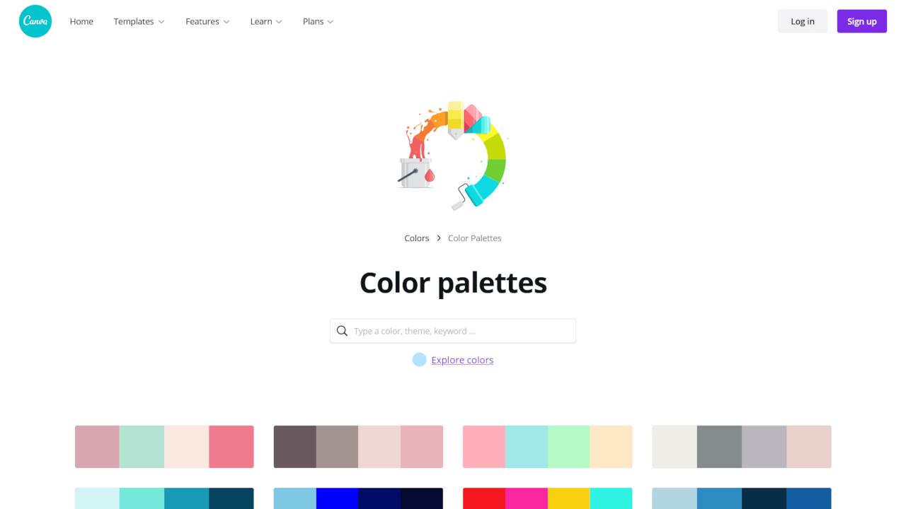 Conheça e gere combinações de cores no Canva