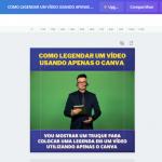 Como legendar um vídeo usando o Canva