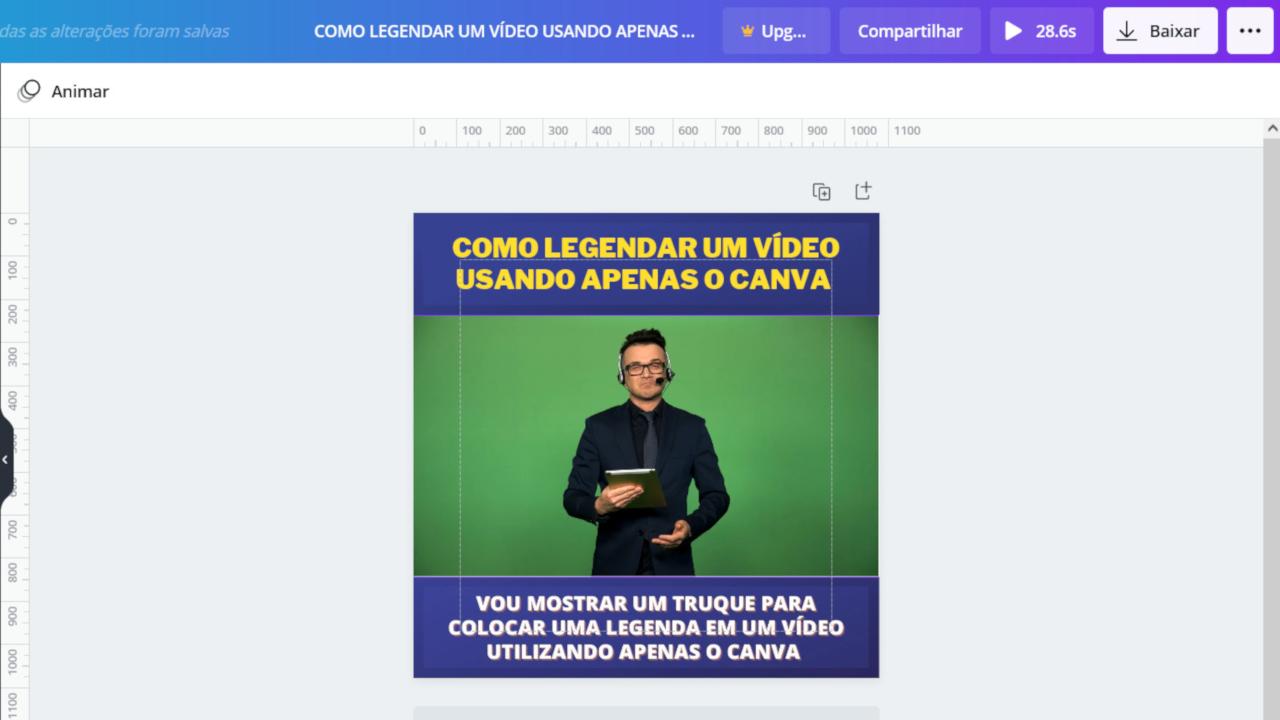 Read more about the article Como legendar um vídeo usando o Canva
