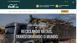 site ferro velho vila nova baruk soft site modelo one page capa