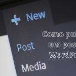 Como publicar um post no WordPress
